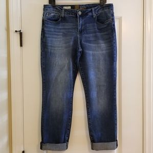 Kut from the Kloth Katy Cuffed Ankle Jeans EUC